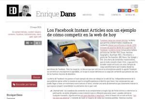 Enrique Dans - Instant Articles